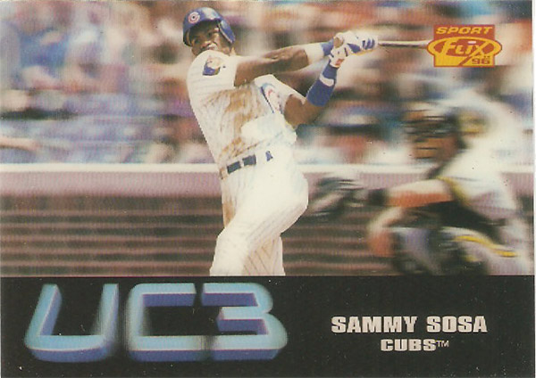 Sammy Sosa 1996 Sportflix UC3 #104 Cubs