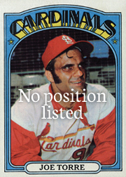 1972 topps - Joe Torre - no position listed