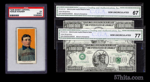 Honus Wagner T206 or two one-million dollar bills?