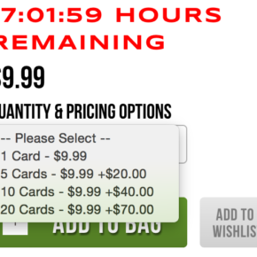 20 cards for $89.99, is $4.49 per card.