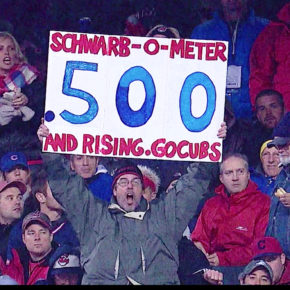 Schwarb-o-meter photo source for drawing, Game 2 Chicago Cubs 2016 World Series