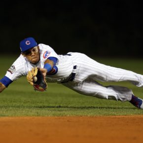Photo reference: Addison Russell diving catch (Brad Mangin / MLB Photos)