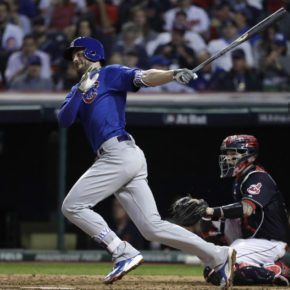 Kris Bryant hits home run in game six (Nuccio DiNuzzo / Chicago Tribune)