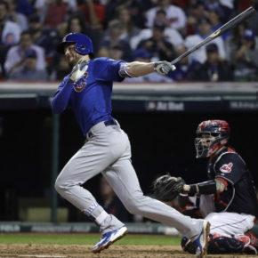 Kris Bryant hits home run in game six (Nuccio DiNuzzo / Chicago Tribune)