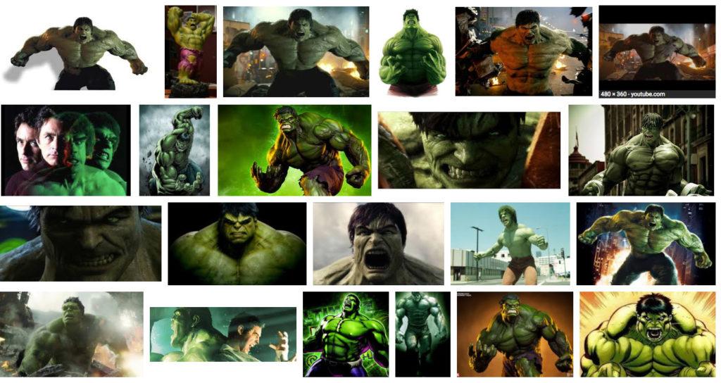 The Incredible Hulk angry: Google image search