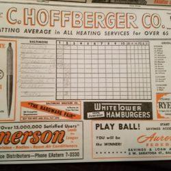 Scorecard of Brooks Robinson 2nd MLB game