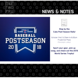 Email from Prudential Plaza about the Cubs Postseason Rally