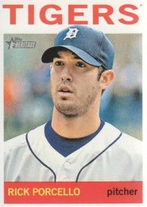 2013 Topps Heritage #257 - Rick Porcello
