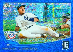 Miguel Cabrerar 2013 Topps Opening Day Blue Foil