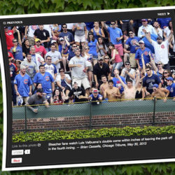 May 30, 2013 Cubs double, Wrigley Field bleachers