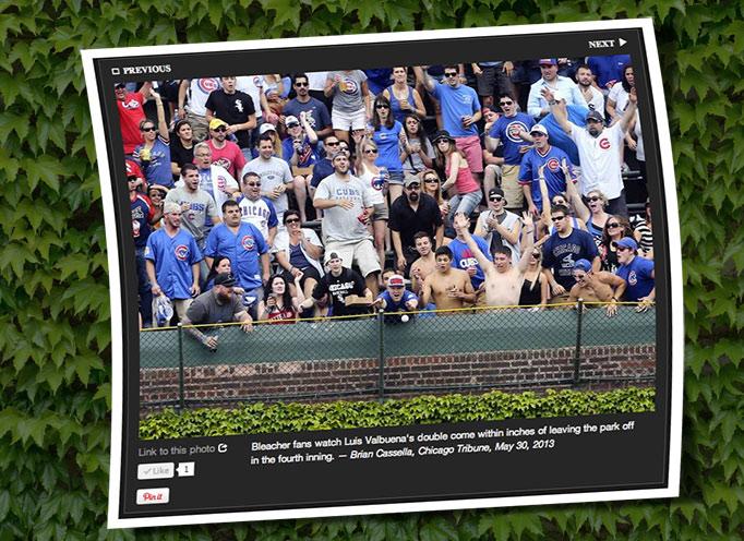 May 30, 2013 Cubs double, Wrigley Field bleachers