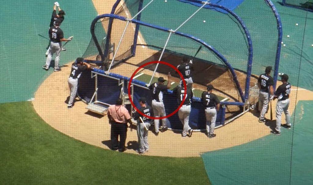 "Andre Dawson ""Hawk"" at batting practice Florida Marlins at Wrigley Field.psd"