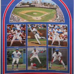 Chicago Cubs Poster Sports Illustrated. Jerome Walton, Mitch Williams, Mark Grace, Ryne Sandberg, Shawon Dunston, Dwight Smith. 1989 All Stars