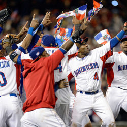 Dominican Republic pointing photo of World Baseball Classic