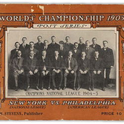 1905 World Series program cover New York vs Philadelphia