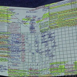 Tim McCarver's beautiful scorecard from the 2011 All-Star Game