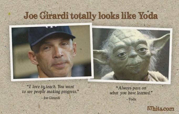 Joe Girardi and Yoda: separated at birth