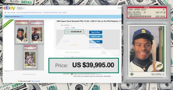 $39,995.00 for a perfect 1989 Upper Deck set