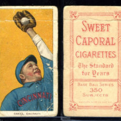 T206 Sweet Caporal REBEL OAKES Cincinnati