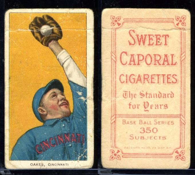 T206 Sweet Caporal REBEL OAKES Cincinnati