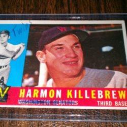 Scribble correction for team name on Harmon Killebrew 1961 Topps