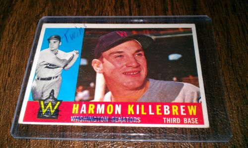 Scribble correction for team name on Harmon Killebrew 1961 Topps