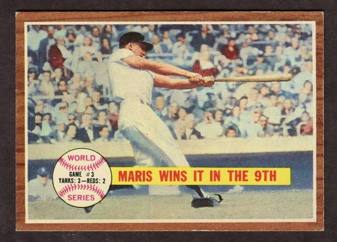 "1962 TOPPS #234 WORLD SERIES GAME 3 ""MARIS WINS IT IN THE 9TH"""