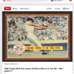 Roger Maris card pinterest