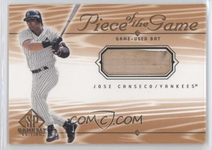 Jose Canseco: 2001 Upper Deck SP Game Bat Edition Piece of the Game