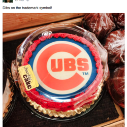 Chicago Cubs cake with TM