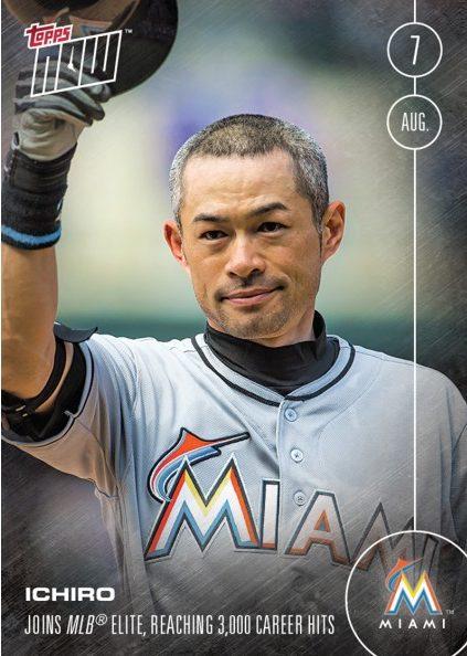 11,550 ICHIRO SUZUKI - 8/7/16 TOPPS NOW CARD 327A