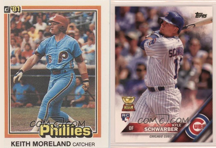 Comparison of Keith Moreland and Kyle Schwarber