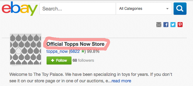 Official Topps Now Store on eBay