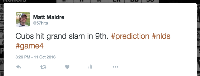 Cubs hit grand slam in 9th. #prediction #nlds #game4