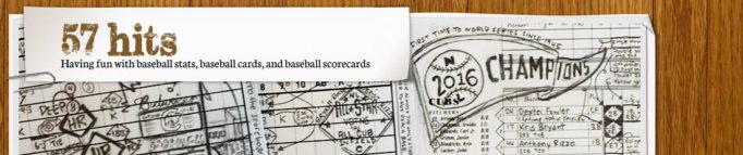 Fun with baseball stats, baseball cards, and baseball scorecards
