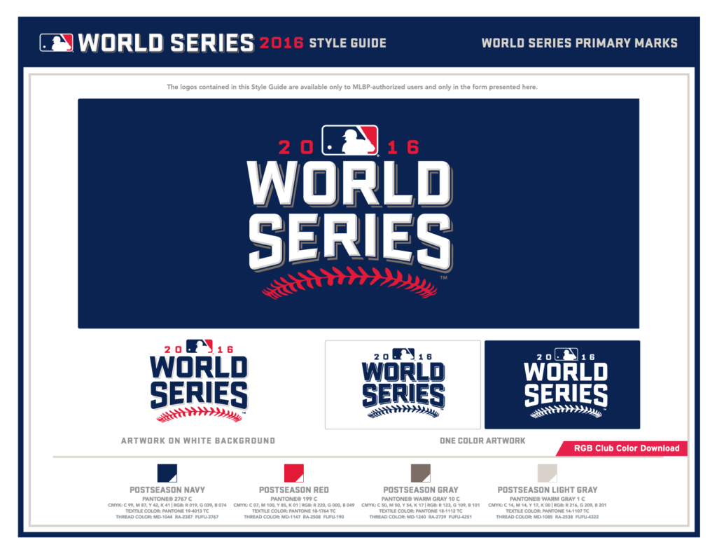 World Series 2016 Style Guide