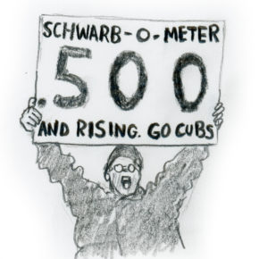 Schwarb-o-meter drawing, Game 2 Chicago Cubs 2016 World Series