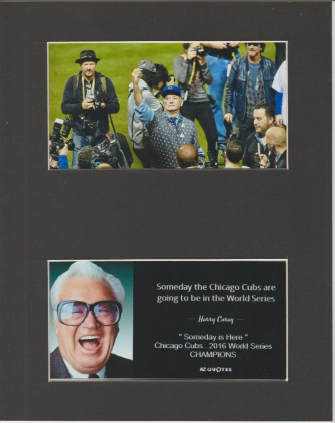Bill Murray, Haray Caray Chicago Cubs World Series plaque