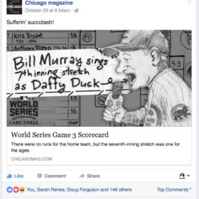 Suffering succotash! (Chicago magazine Facebook post)