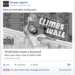 Relive all of last night's thrilling action. (Chicago magazine Facebook post)