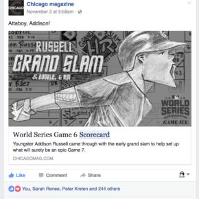 Attaboy, Addison! (Chicago magazine Facebook post)
