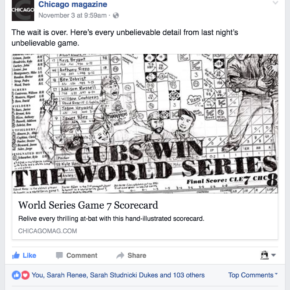 The wait is over. Here's every unbelievable detail from last night's unbelievable game. (Chicago magazine Facebook post)