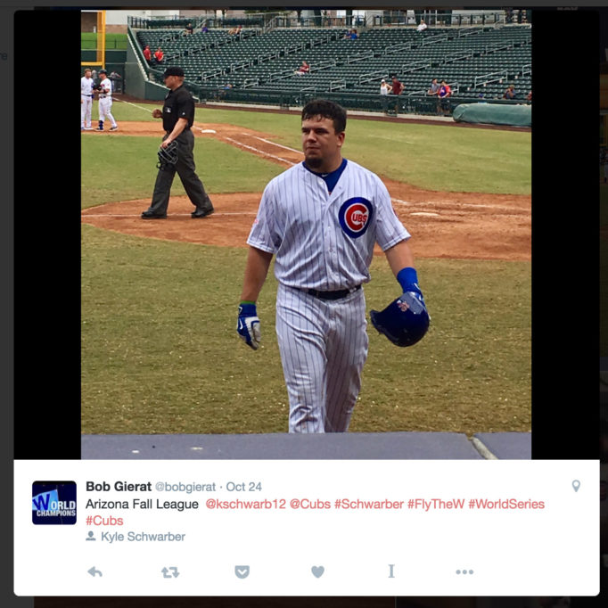 Arizona Fall League @kschwarb12 @Cubs #Schwarber #FlyTheW #WorldSeries #Cubs