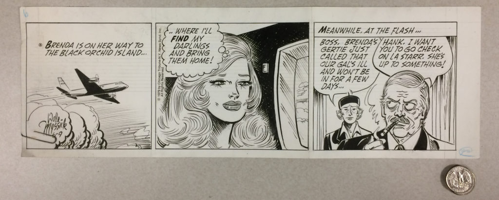 original comic strip artwork from 1979