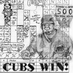 Game 2 scorecard for 2016 World Series