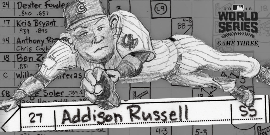Addison Russell diving promo for social media
