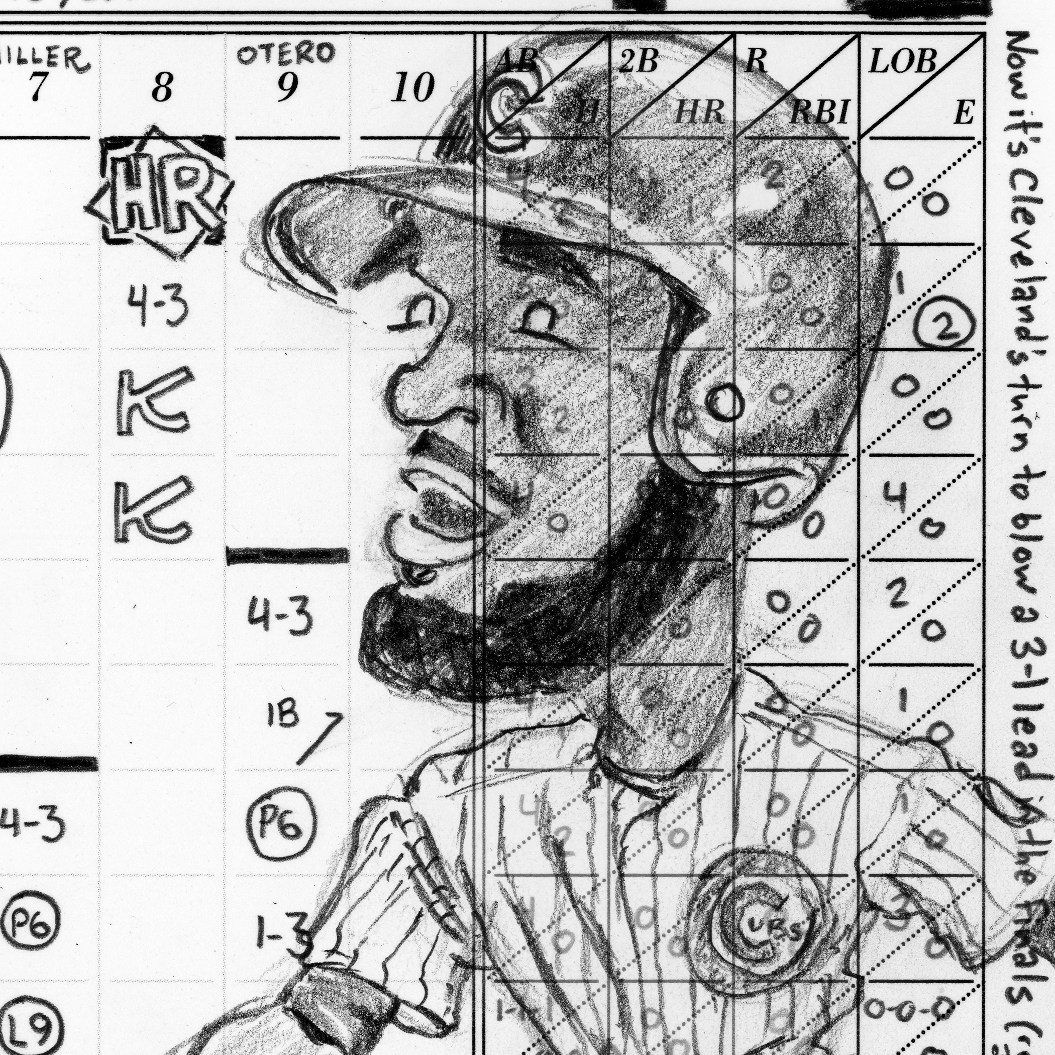 Game 4 scorecard for 2016 World Series