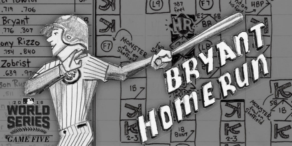 Kris Bryant social media promo, game 5, 2016 World Series