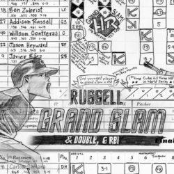 Game 6 scorecard for 2016 World Series