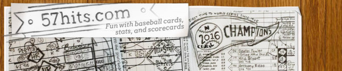 57hits: Fun with baseball cards, stats, and scorecards